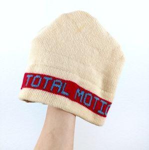 Vtg Ski Vermont Wool HandMade Striped Beanie Hat